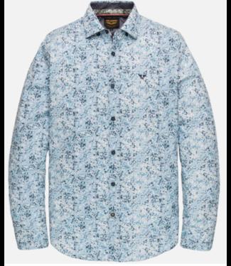 PME Legend Long Sleeve Shirt Poplin stretch d Dresden Blue PSI201218