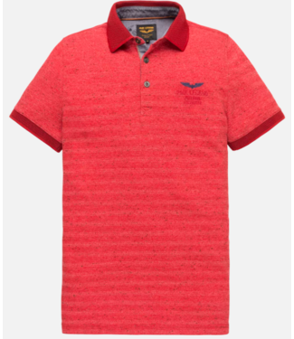 PME Legend Short sleeve polo Jacquard pique Racing Red PPSS201856