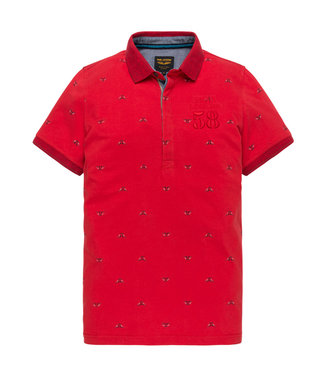 PME Legend Short sleeve polo Single jersey AO Racing Red PPSS201854
