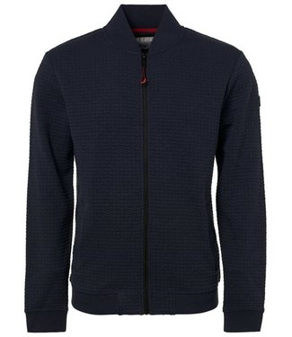 No Excess Sweater, full zip Bomber, blue Print 92100813