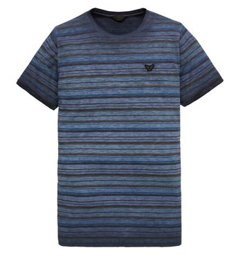 PME Legend Short sleeve r-neck Jersey Striped Dark Sapphire PTSS201556