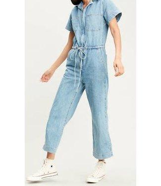 Levi's Wide leg jumpsuit blauw 85699-0003
