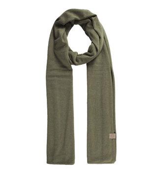 Zusss Fijgebreide zachte sjaal groen