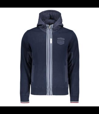 PME Legend Hooded jacket Cotton knit Dark Sapphire PKC201350