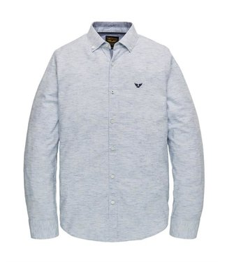 PME Legend Long Sleeve Shirt Yarn dyed stripe Aero Blue PSI201226
