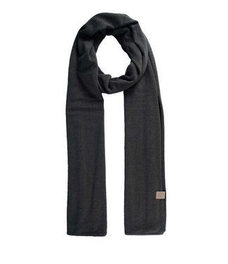 Zusss Fijngebreide zachte sjaal grafietgrijs