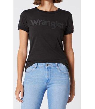 Wrangler Ringer tee zwart W7N0EVXV6