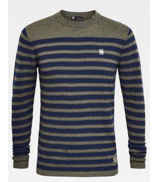 G-Star Stripe crew neck knit grijs D16080-8403-B271