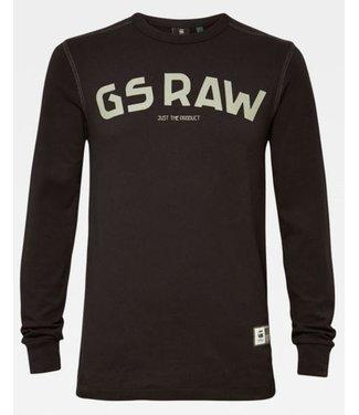 G-Star Gsraw  t-shirt zwart D16395-4561-6484
