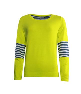 Poools Sweater contrast geel 013110