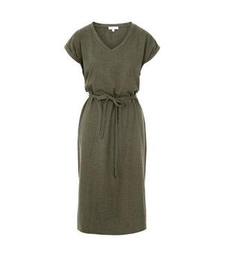 Zusss Basic t-shirt jurk groen