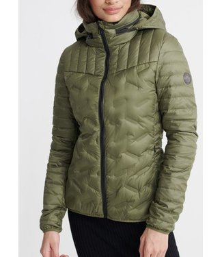 Superdry Ls essentials radar down jacket groen W5010055A