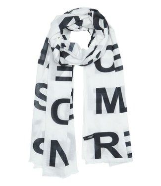10Days Pareo scarf slogan off white 20-918-0201