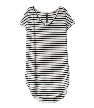 10Days Dress stripes off white 20-312-0201