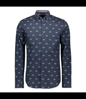 PME Legend Long Sleeve Shirt Poplin with Fil Dark Sapphire PSI201210