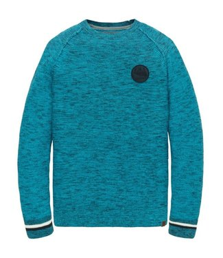 PME Legend Crewneck Mouline knit Dresden Blue PKW201304
