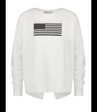 PENN&INK N.Y Sweater print wit S20F728