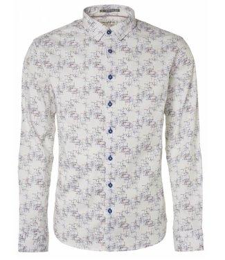 No Excess Shirt, allover printed, stretch white 95450105