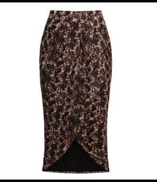 NA-KD Printed overlap mesh skirt multicolour 1018-003709