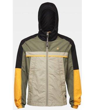 G-Star Colorblock hooded jacket groen D16197-C183-B111