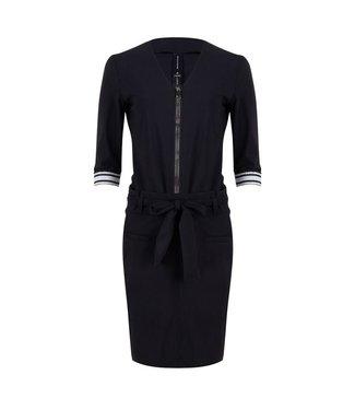 Jane Lushka Leah zipper and stripes dress zwart U920SS19Z