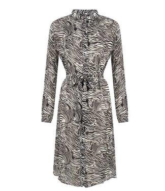 Jane Lushka Blanche dress zebra wit CZ920SS1000