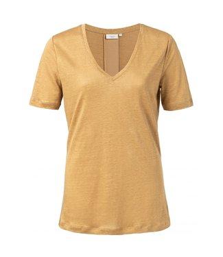 Yaya Linen T-shirt with tape DUSTY OKER 1919112-013