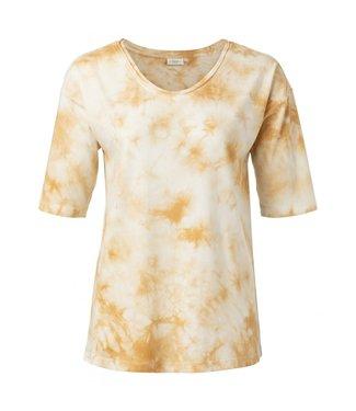Yaya Cotton blend T-shirt DUSTY OKER 1919111-013