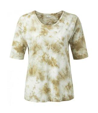 Yaya Cotton blend T-shirt GREYISH GREEN 1919111-013