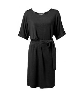 Yaya Jersey midi dress with cuffs ALMOST BLACK 1809233-013