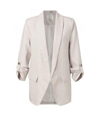 Yaya Linen blend blazer BEIGE MELANGE 150151-013