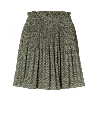 Yaya Pleated mini skirt DARK OLIVE 140181-013