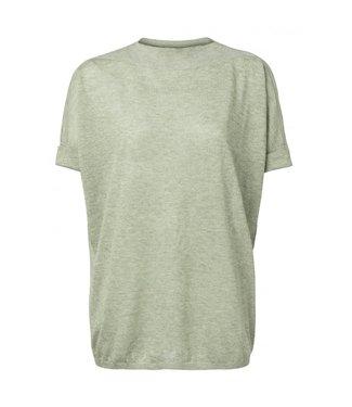 Yaya Lurex boat neck sweater DUSTY GREEN 1000253-013