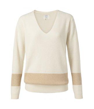 Yaya Lurex sweater WOOL WHITE 1000249-013