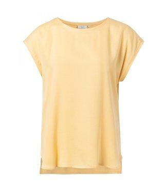 Yaya Fabric mix T-shirt MELLOW YELLOW 1901116-013