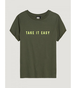 Catwalk Junkie T-shirt take it easy olive tree **00 2002010201