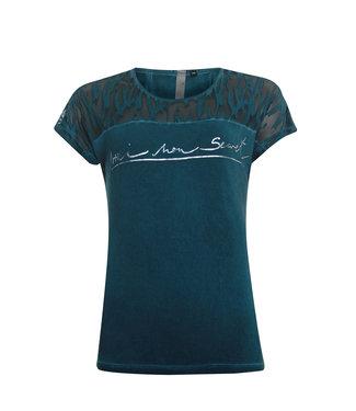 Poools T-shirt text groen 013156