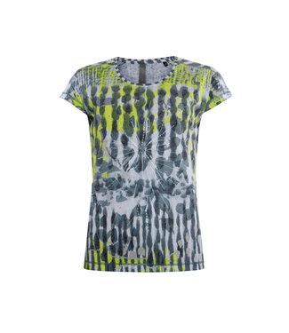 Poools T-shirt print blauw 013236