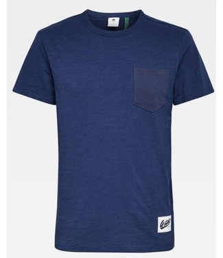 G-Star Contrast pocket t-shirt blauw D16426-B255-1305
