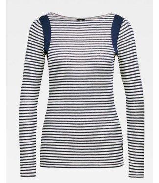 G-Star Zovas yarn dyed stripe slim top wit D16278-9024-8340
