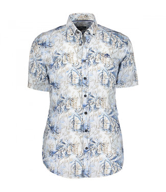State of Art Shirt Printed Poplin kobalt 264-10413-5784
