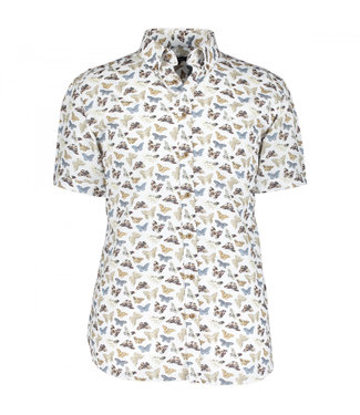 State of Art Shirt Printed Poplin wit 264-10402-1184