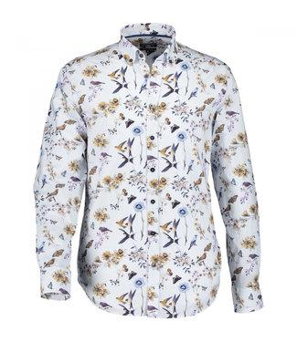 State of Art Shirt Printed Poplin violet 214-10244-6484