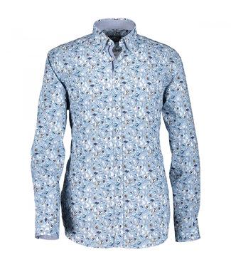 State of Art Shirt Printed Poplin kobalt 214-10213-5784