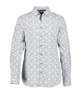 State of Art Shirt Printed Poplin kobalt 214-10204-5784