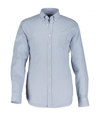 State of Art Shirt Printed Poplin wit 214-10201-1157
