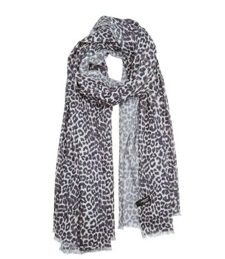 10Days Pareo scarf leopard off white 20-910-0201