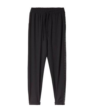 10Days Easy pants piping zwart 20-054-0201