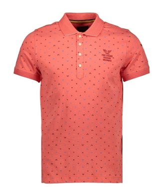 PME Legend Short sleeve polo Single jersey Spiced Coral PPSS202860