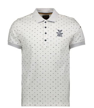 PME Legend Short sleeve polo Single jersey Bright White PPSS202860
